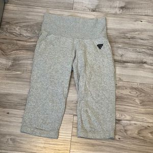 GUESS Grey Highwaist Cropped Sweatpants
